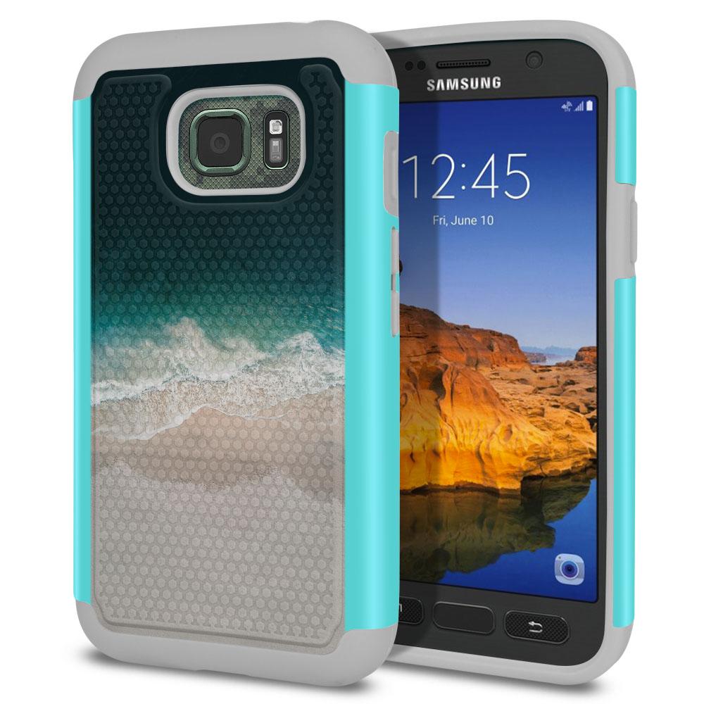 Samsung Galaxy S7 Active G891 Texture Hybrid Sandy Beach Protector Cover Case