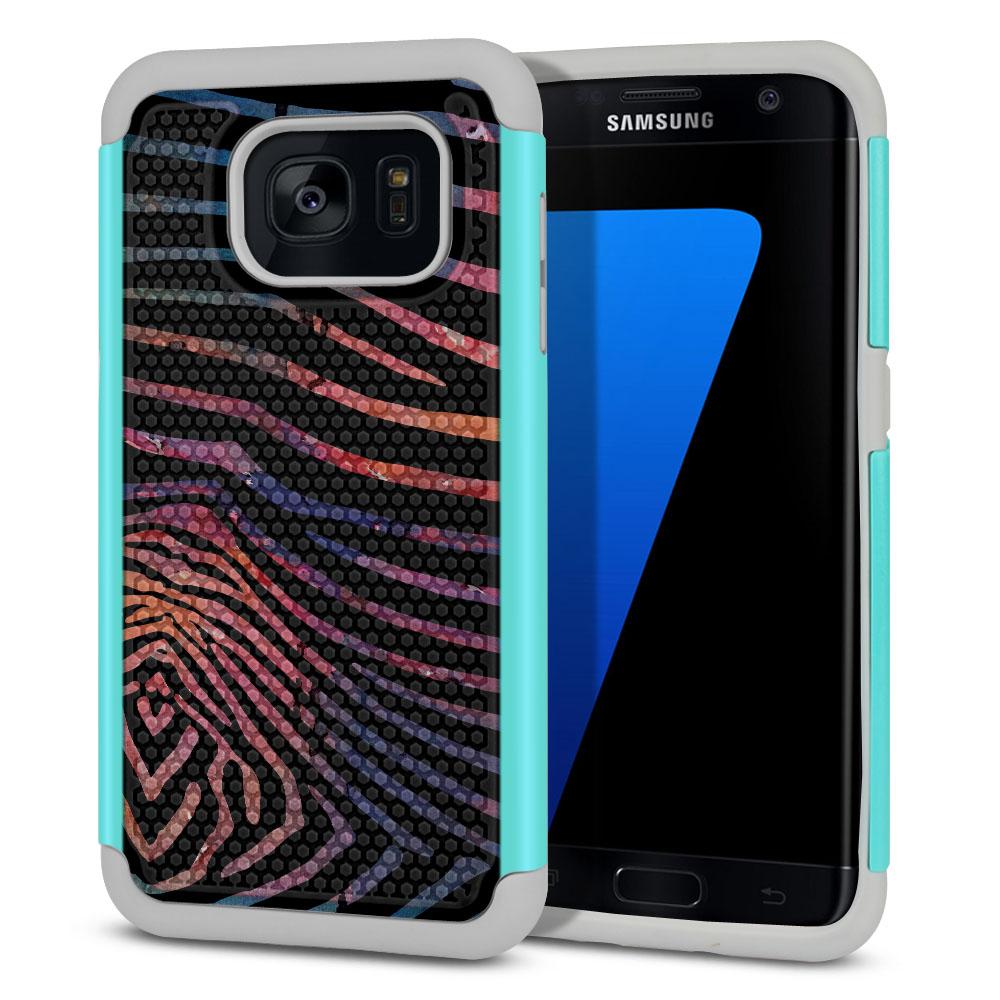 Samsung Galaxy S7 Edge G935 Texture Hybrid Zebra Stripes Dusk Protector Cover Case