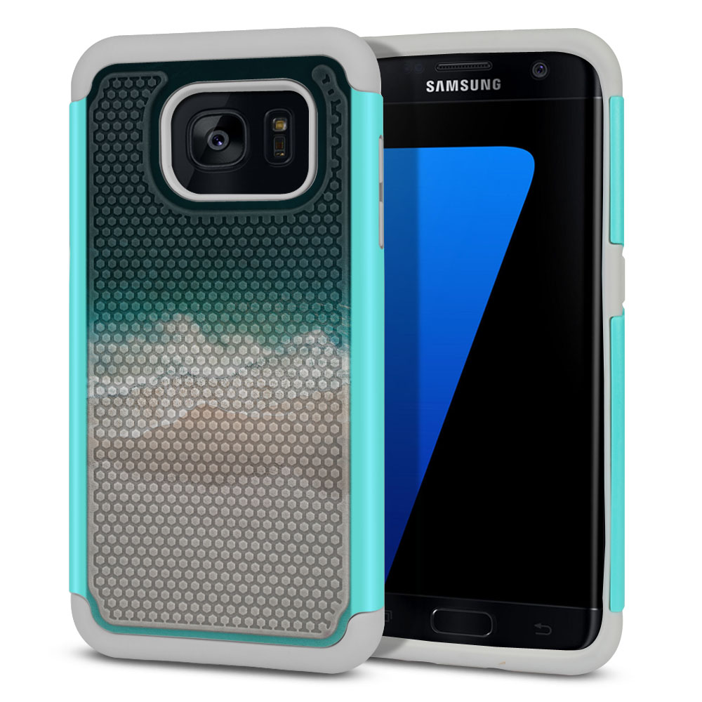 Samsung Galaxy S7 Edge G935 Texture Hybrid Sandy Beach Protector Cover Case