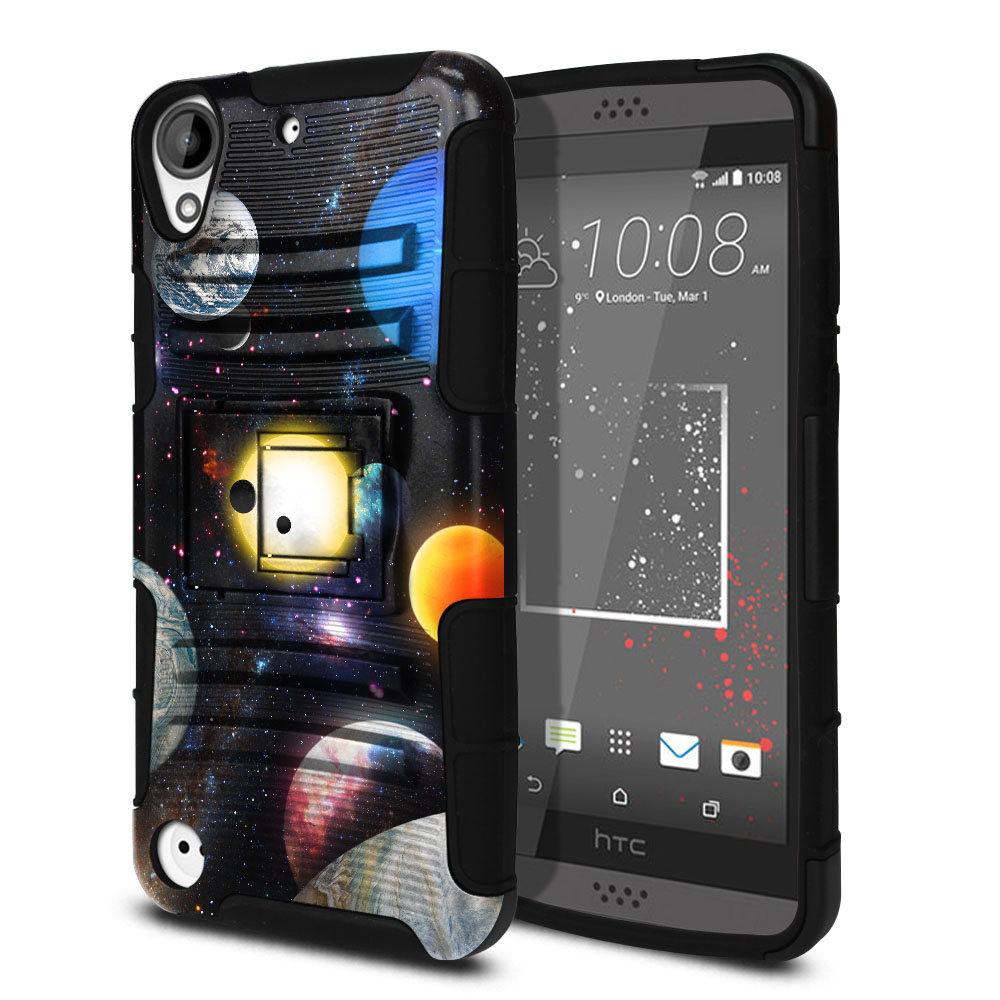 HTC Desire 530 630 Hybrid Rigid Stand Planet Solar System 2 Protector Cover Case