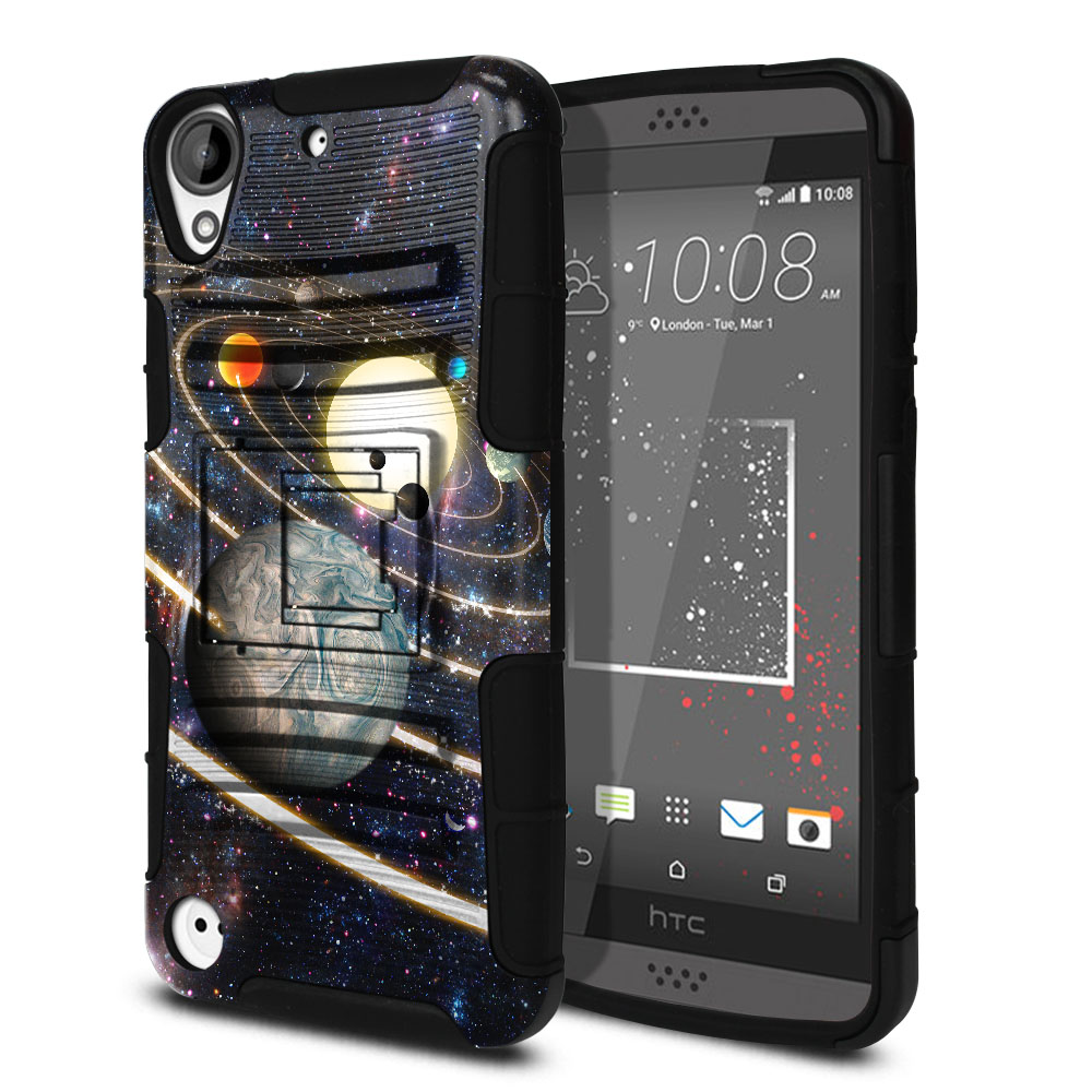 HTC Desire 530 630 Hybrid Rigid Stand Rings of Solar System Protector Cover Case