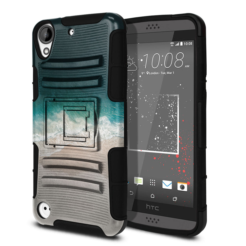 HTC Desire 530 630 Hybrid Rigid Stand Sandy Beach Protector Cover Case