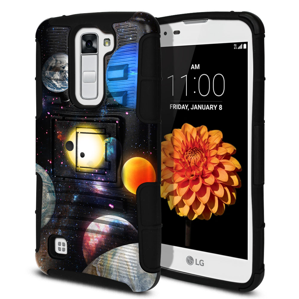 LG K7 Tribute 5 LS675 MS330 M1 Hybrid Rigid Stand Planet Solar System 2 Protector Cover Case