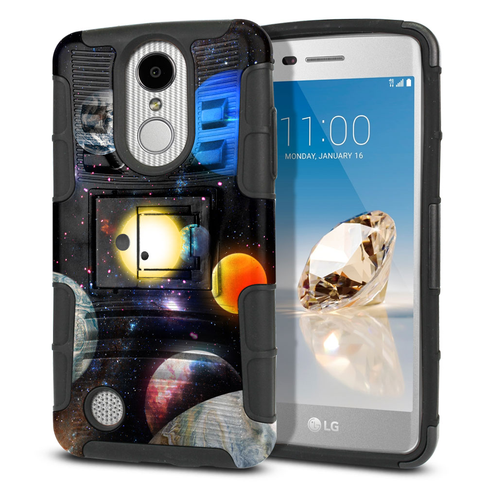 LG Aristo MS210 LV3 K8 (2017)/ Phoenix 3 M150 Hybrid Rigid Stand Planet Solar System 2 Protector Cover Case