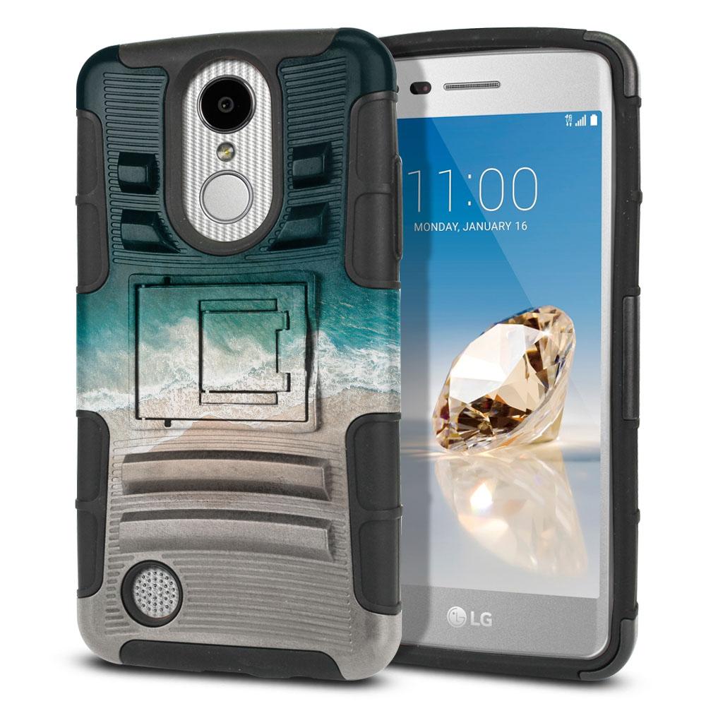 LG Aristo MS210 LV3 K8 (2017)/ Phoenix 3 M150 Hybrid Rigid Stand Sandy Beach Protector Cover Case