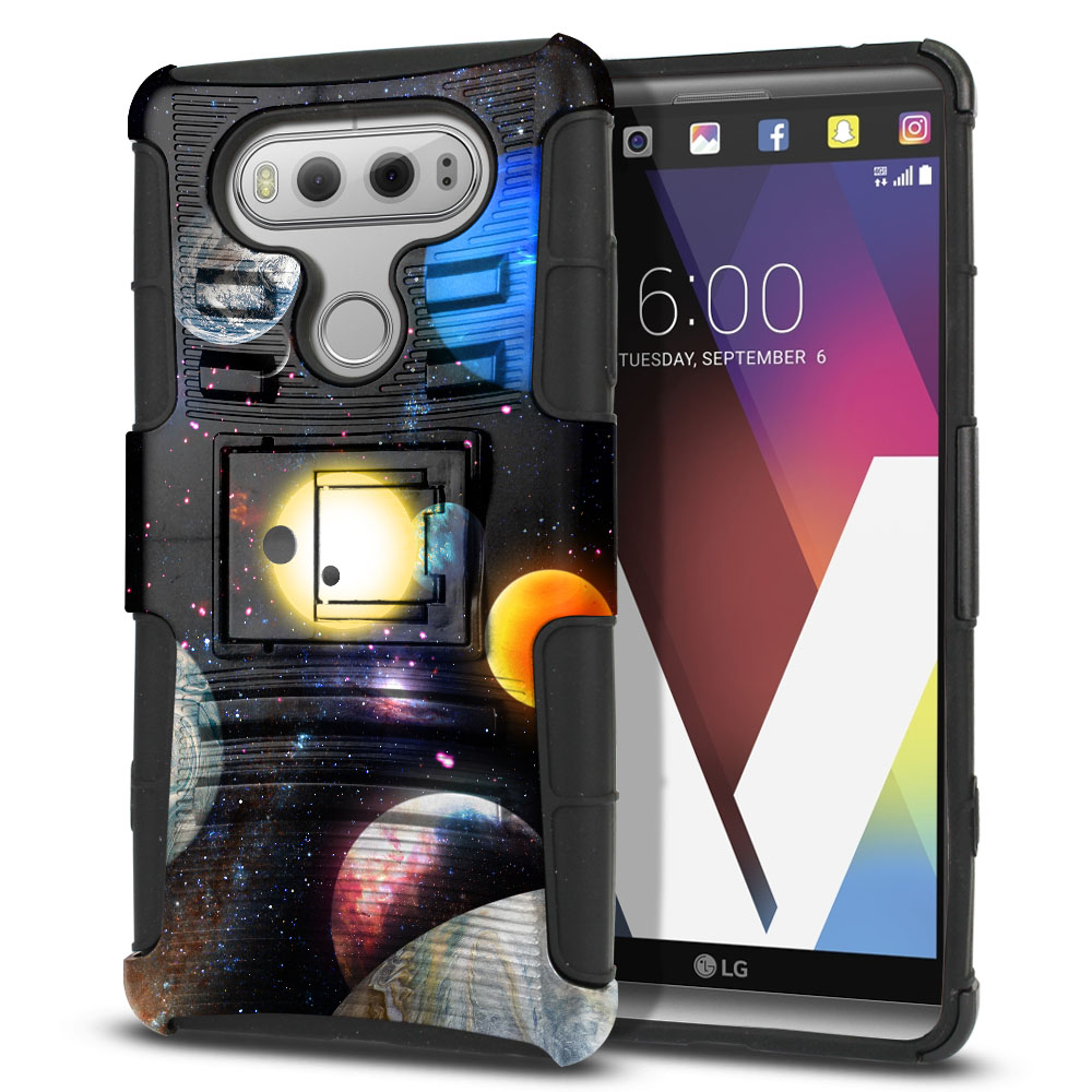LG V20 VS995 H990 LS997 H910 H918 US996 Hybrid Rigid Stand Planet Solar System 2 Protector Cover Case