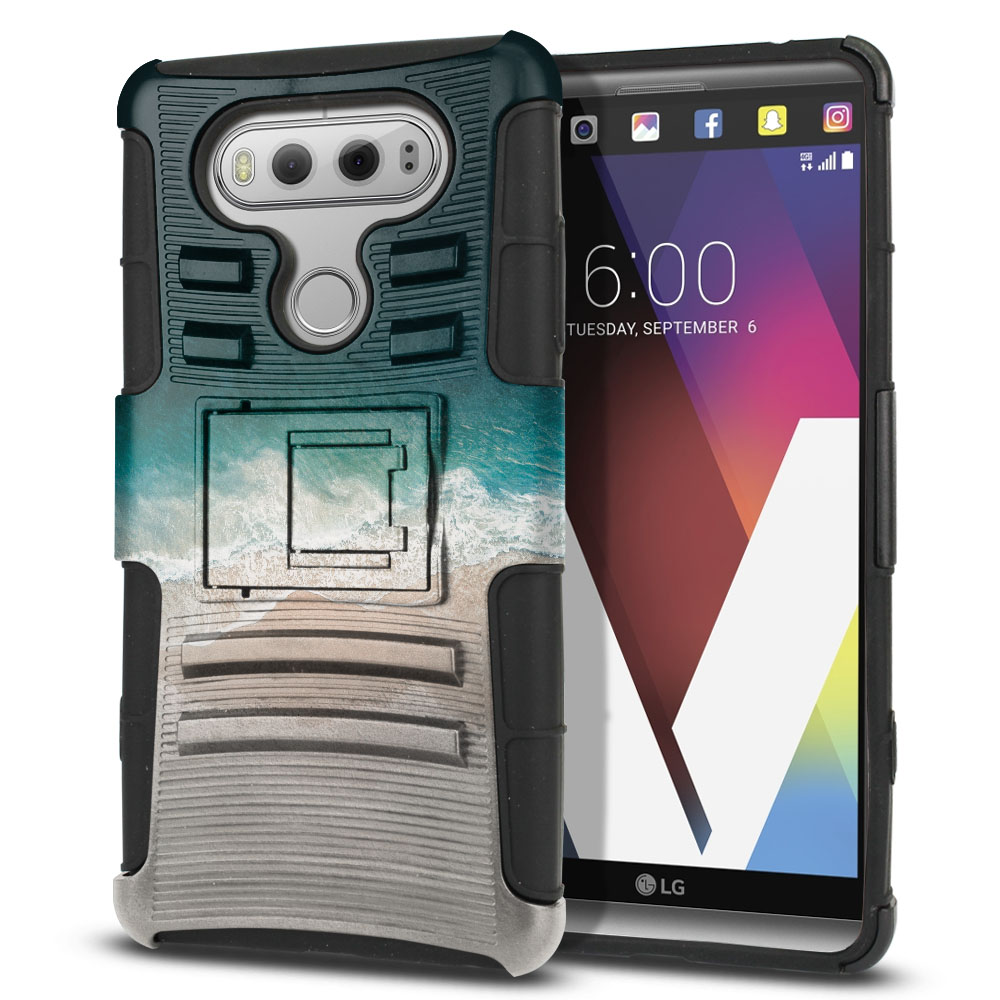 LG V20 VS995 H990 LS997 H910 H918 US996 Hybrid Rigid Stand Sandy Beach Protector Cover Case