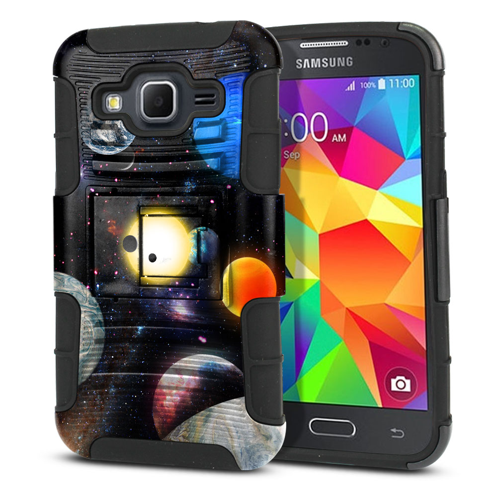 Samsung Galaxy Core Prime G360 Hybrid Rigid Stand Planet Solar System 2 Protector Cover Case
