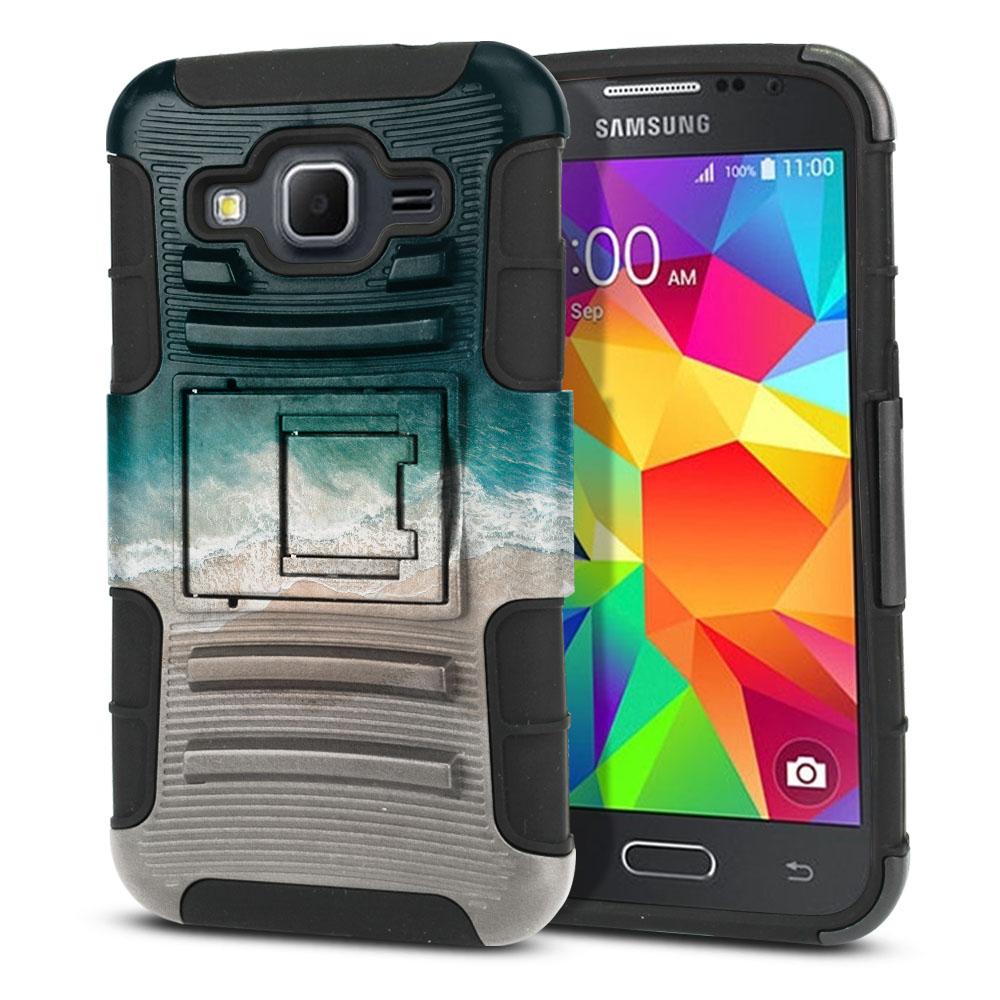 Samsung Galaxy Core Prime G360 Hybrid Rigid Stand Sandy Beach Protector Cover Case