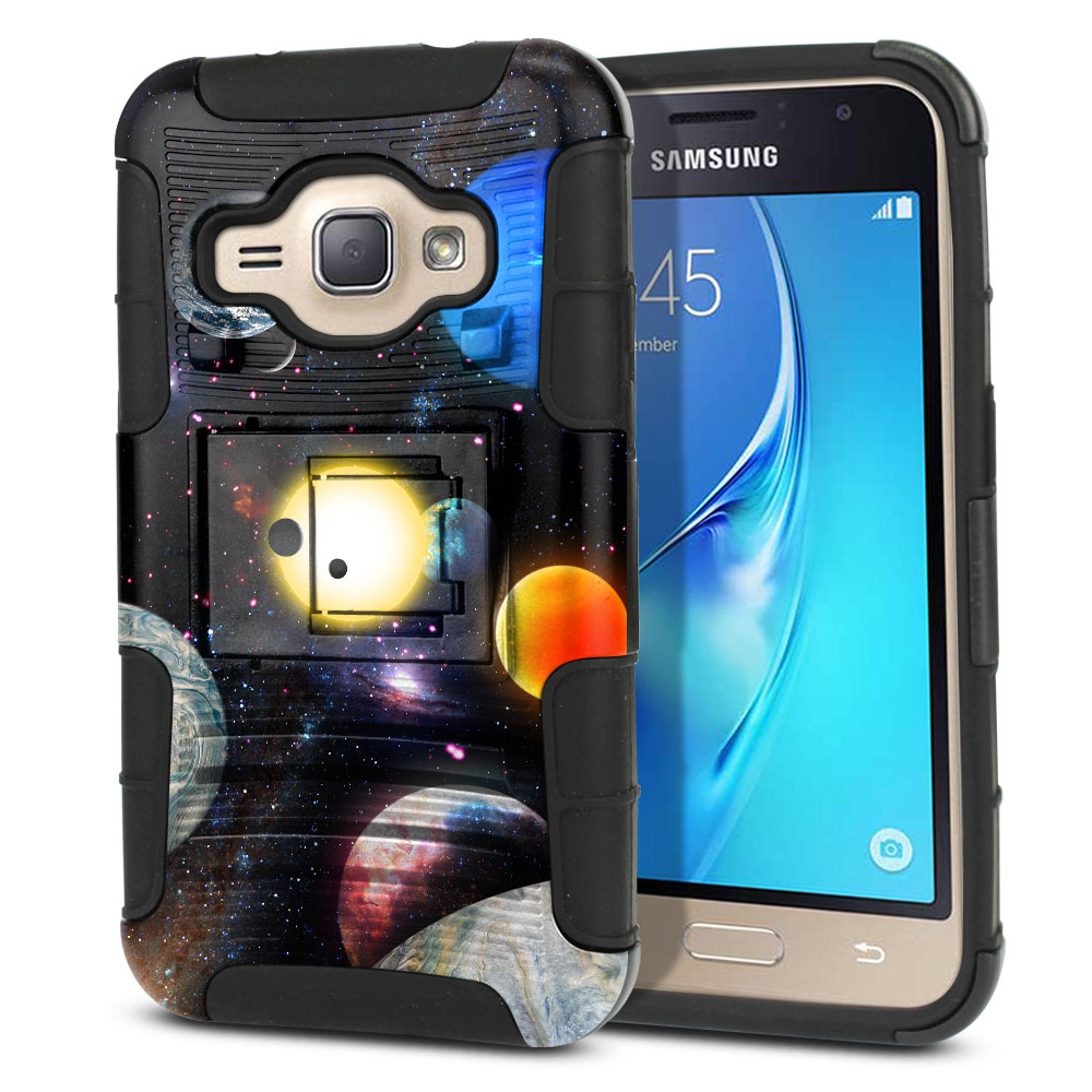 Samsung Galaxy J1 J120 2nd Gen 2016 Hybrid Rigid Stand Planet Solar System 2 Protector Cover Case