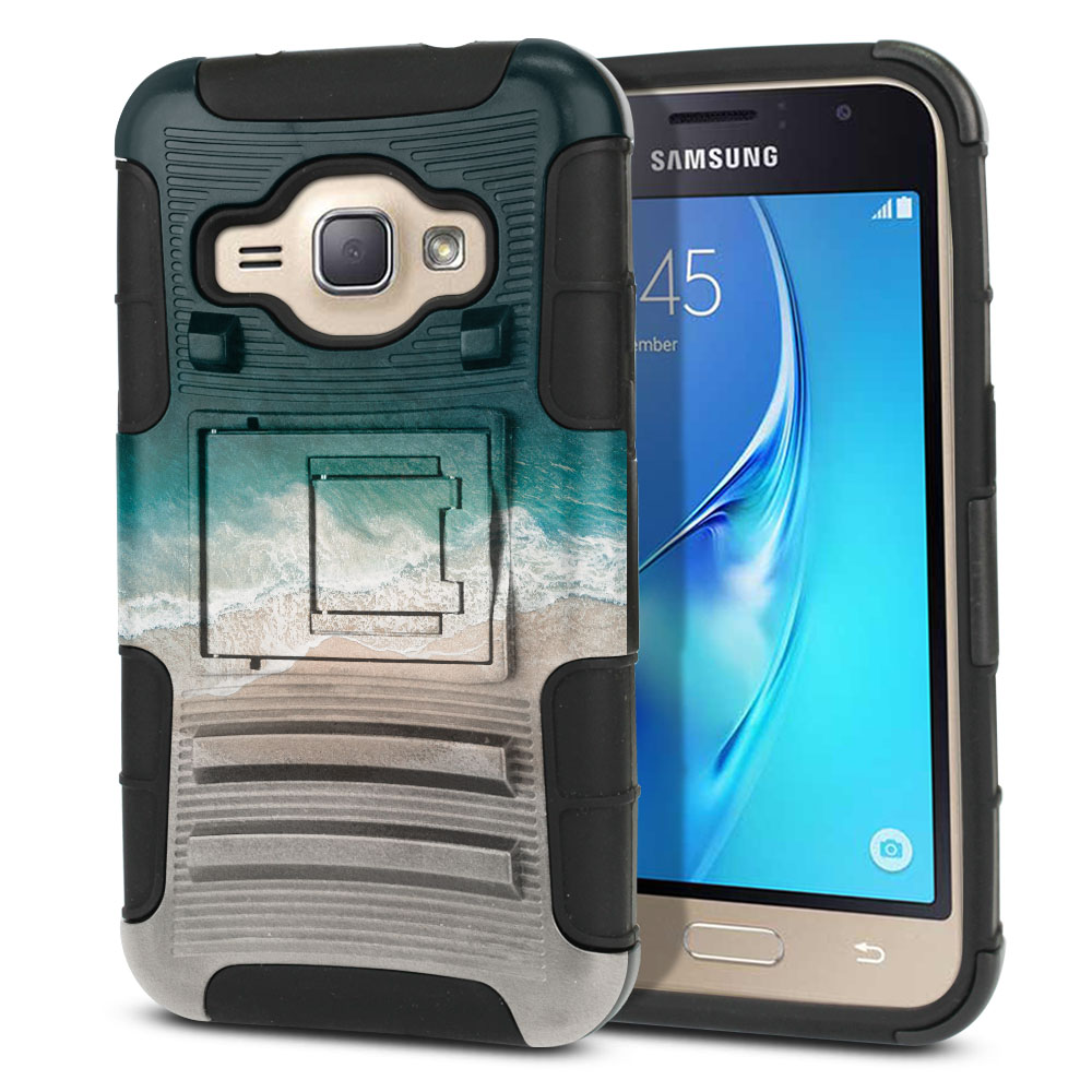 Samsung Galaxy J1 J120 2nd Gen 2016 Hybrid Rigid Stand Sandy Beach Protector Cover Case