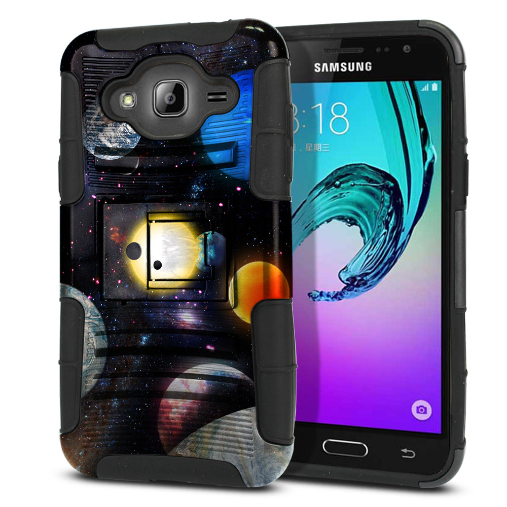 Samsung Galaxy J3 J310 J320 Hybrid Rigid Stand Planet Solar System 2 Protector Cover Case