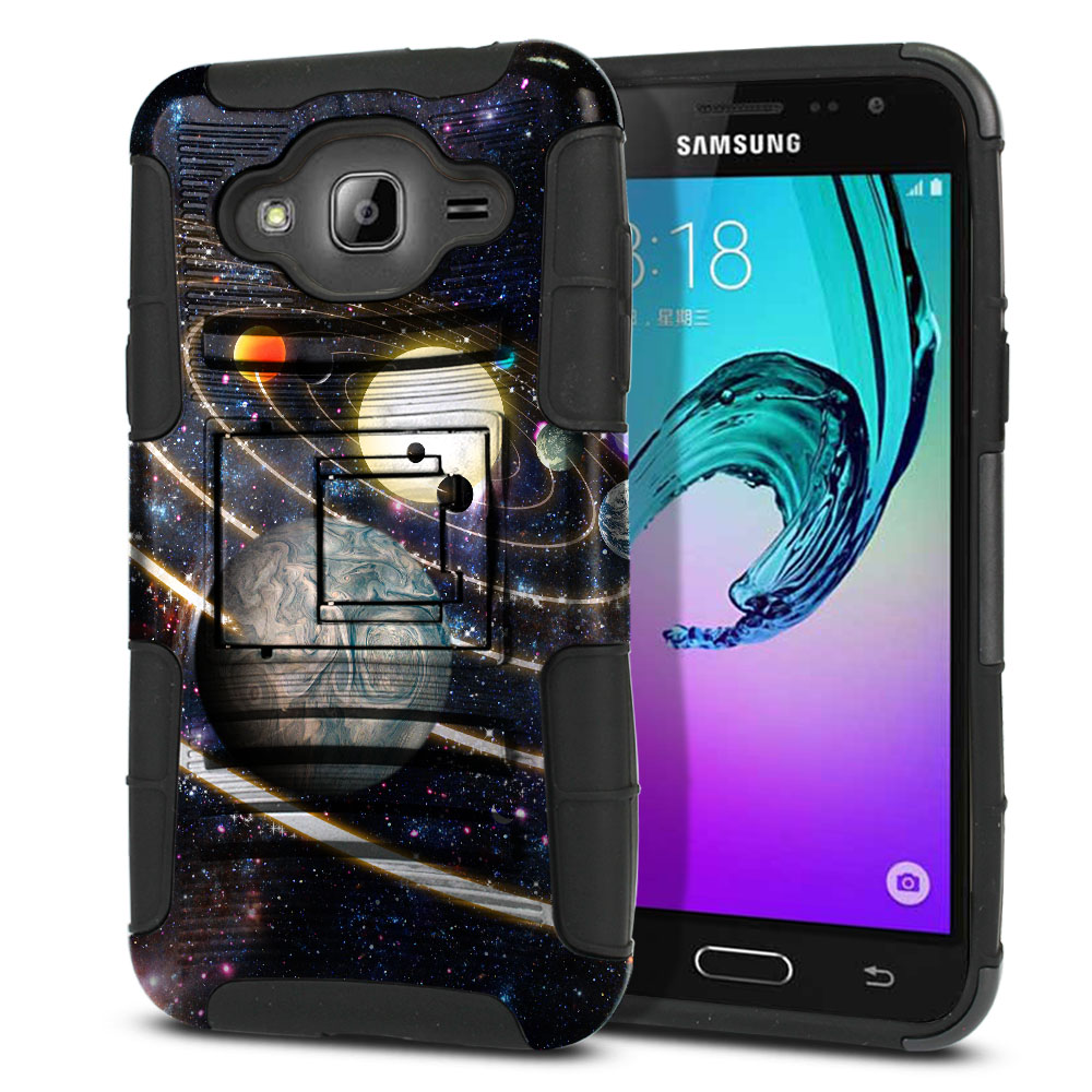 Samsung Galaxy J3 J310 J320 Hybrid Rigid Stand Rings of Solar System Protector Cover Case
