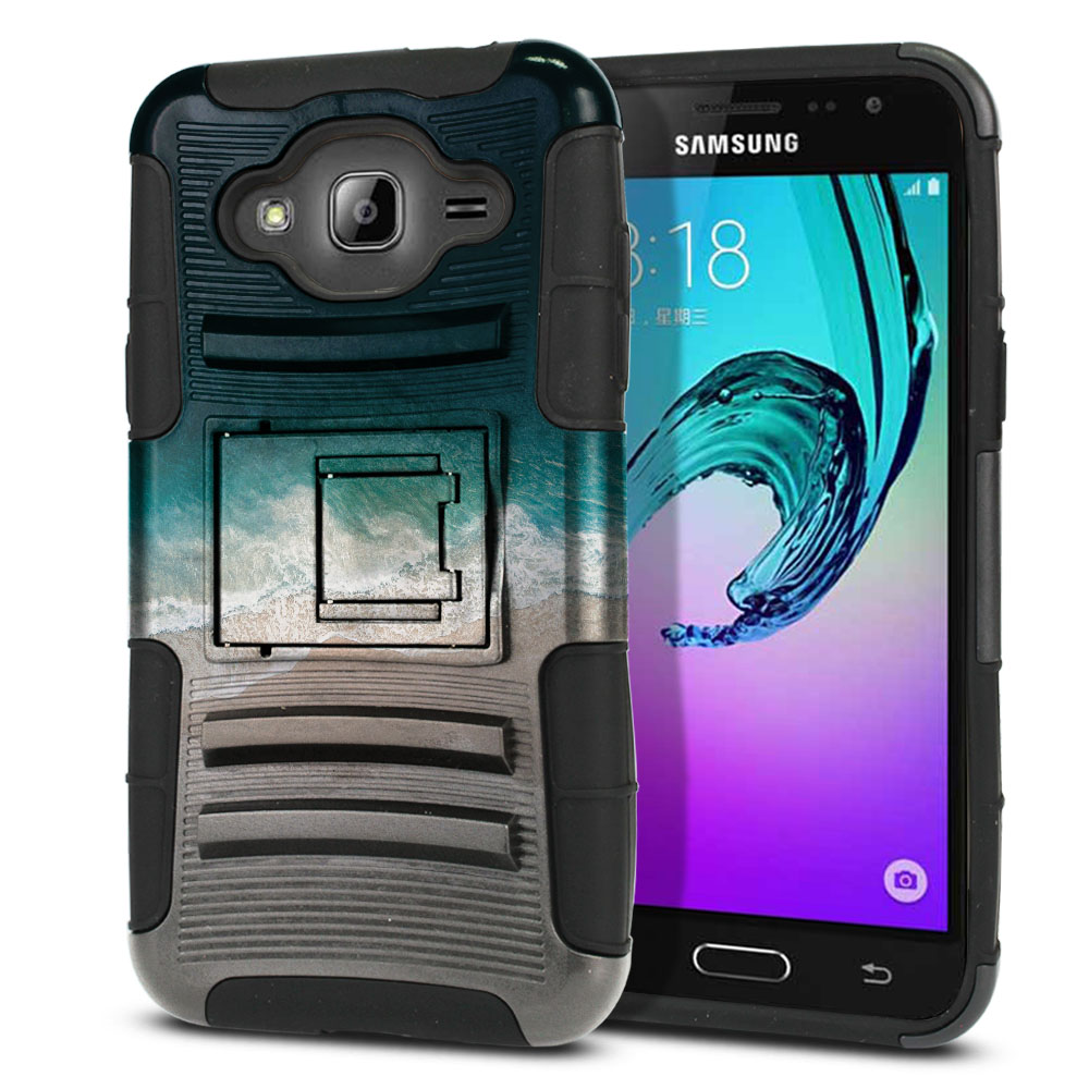 Samsung Galaxy J3 J310 J320 Hybrid Rigid Stand Sandy Beach Protector Cover Case