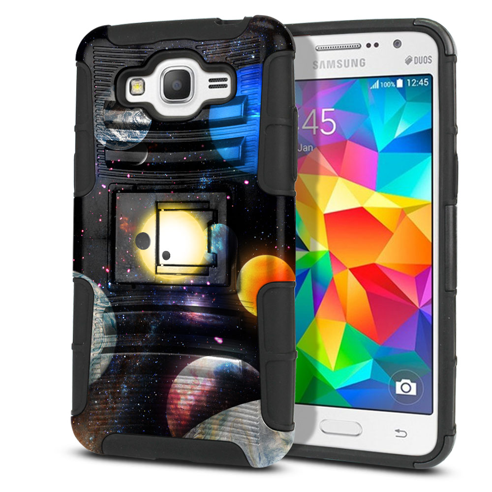 Samsung Galaxy Grand Prime G530 Hybrid Rigid Stand Planet Solar System 2 Protector Cover Case