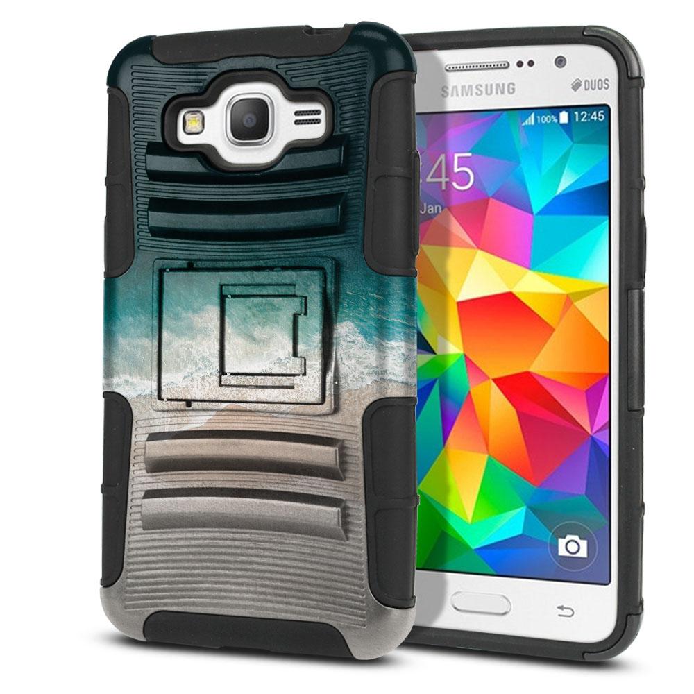 Samsung Galaxy Grand Prime G530 Hybrid Rigid Stand Sandy Beach Protector Cover Case
