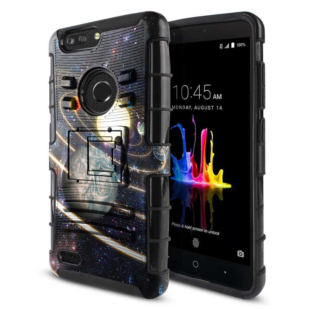 ZTE Blade Z Max Z982/ Sequoia Hybrid Rigid Stand Rings of Solar System Protector Cover Case